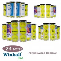 24 Botes pelotas PERSONALIZABLES Winball Pro