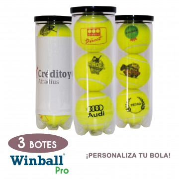 3 Botes pelotas PERSONALIZABLES Winball Pro