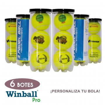 6 Botes pelotas PERSONALIZABLES Winball Pro