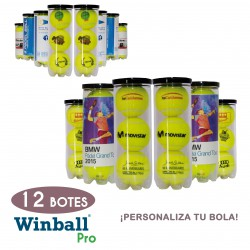 12 Botes pelotas PERSONALIZABLES Winball Pro