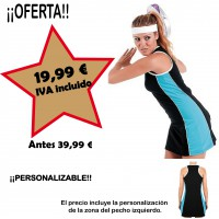 Vestido negro deportivo PERSONALIZABLE - OUTLET -